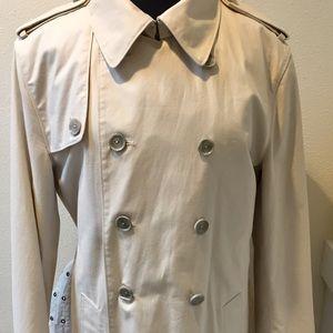 CLUB MONACO Off White Classic Trench Coat Size L